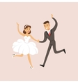 Newlyweds Doing First Modern Dance At The Wedding vector image
