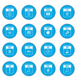 web document icon blue vector image