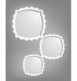 Abstract cartoon frames vector image vector image