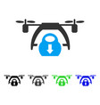 Drone unloading flat icon vector image