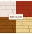 Wooden floor seamless pattern vector image