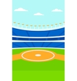Background of baseball stadium vector image vector image