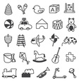 Toys Icons Collection vector image