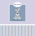 Baby birth card vector image vector image