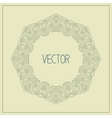 abstract hipster line art frame vector image