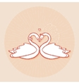 Design element for wedding greeting card vector image