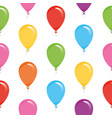 festive seamless pattern with colorful balloons vector image