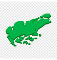 map of singapore isometric icon vector image