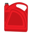 Red tank vector image