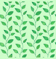 seamless pattern with decorative leaves summer vector image
