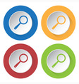 set of four icons - magnifier vector image