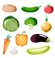Stylized Simple Plastic Vegetables Icons vector image