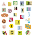 The original alphabet from bright abstract letters vector image