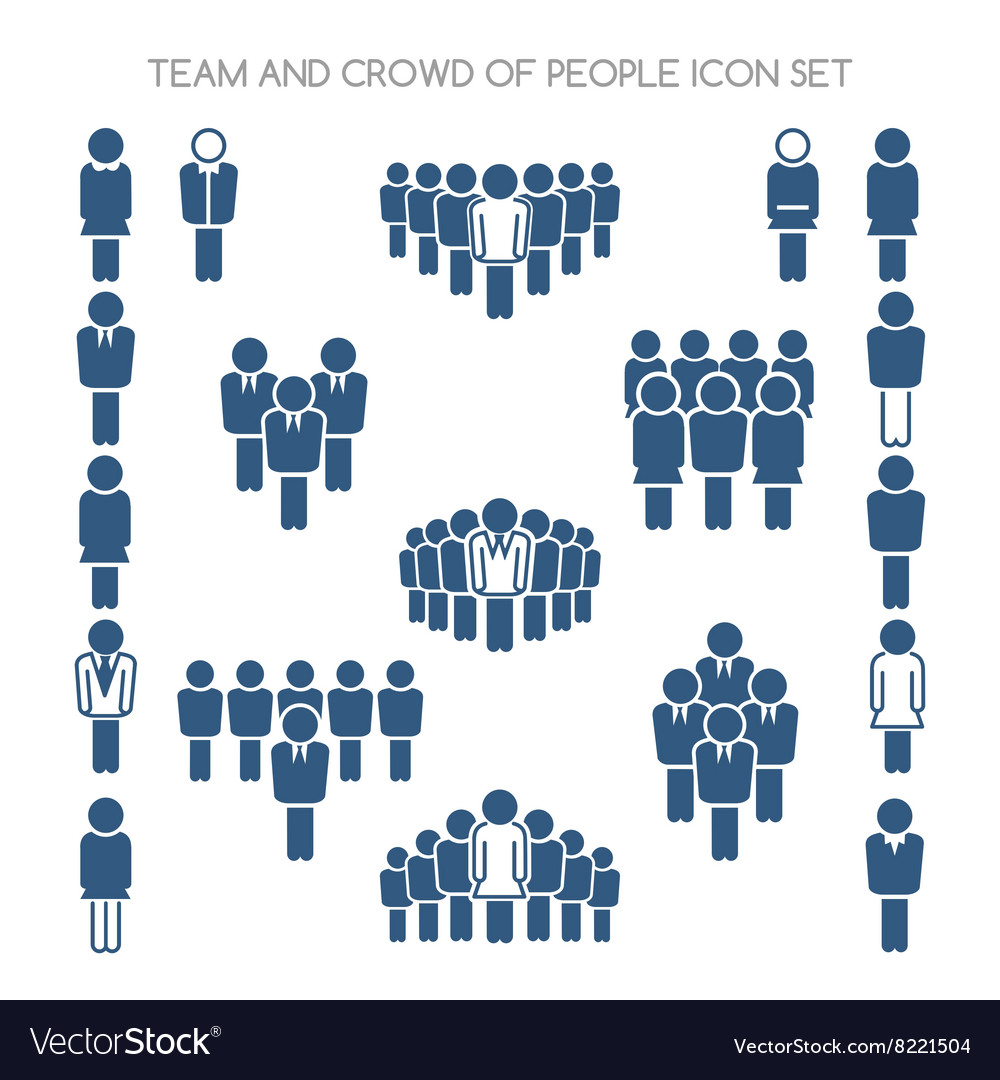 Team and crowd icons vector
