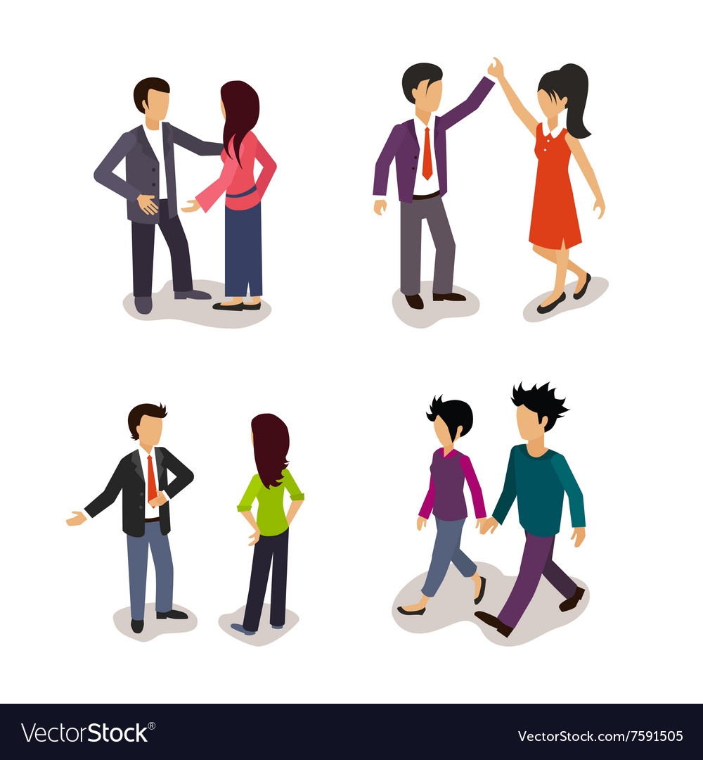 Ordinary people everyday actions vector