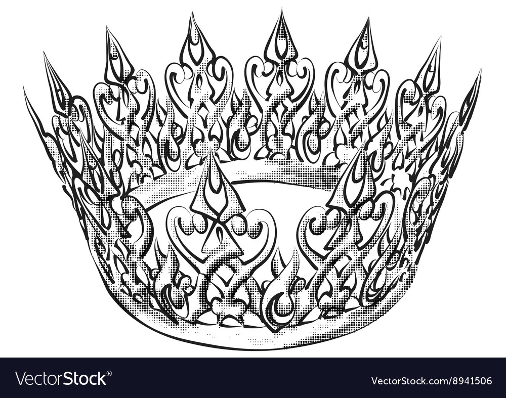 Abstract crown on white vector