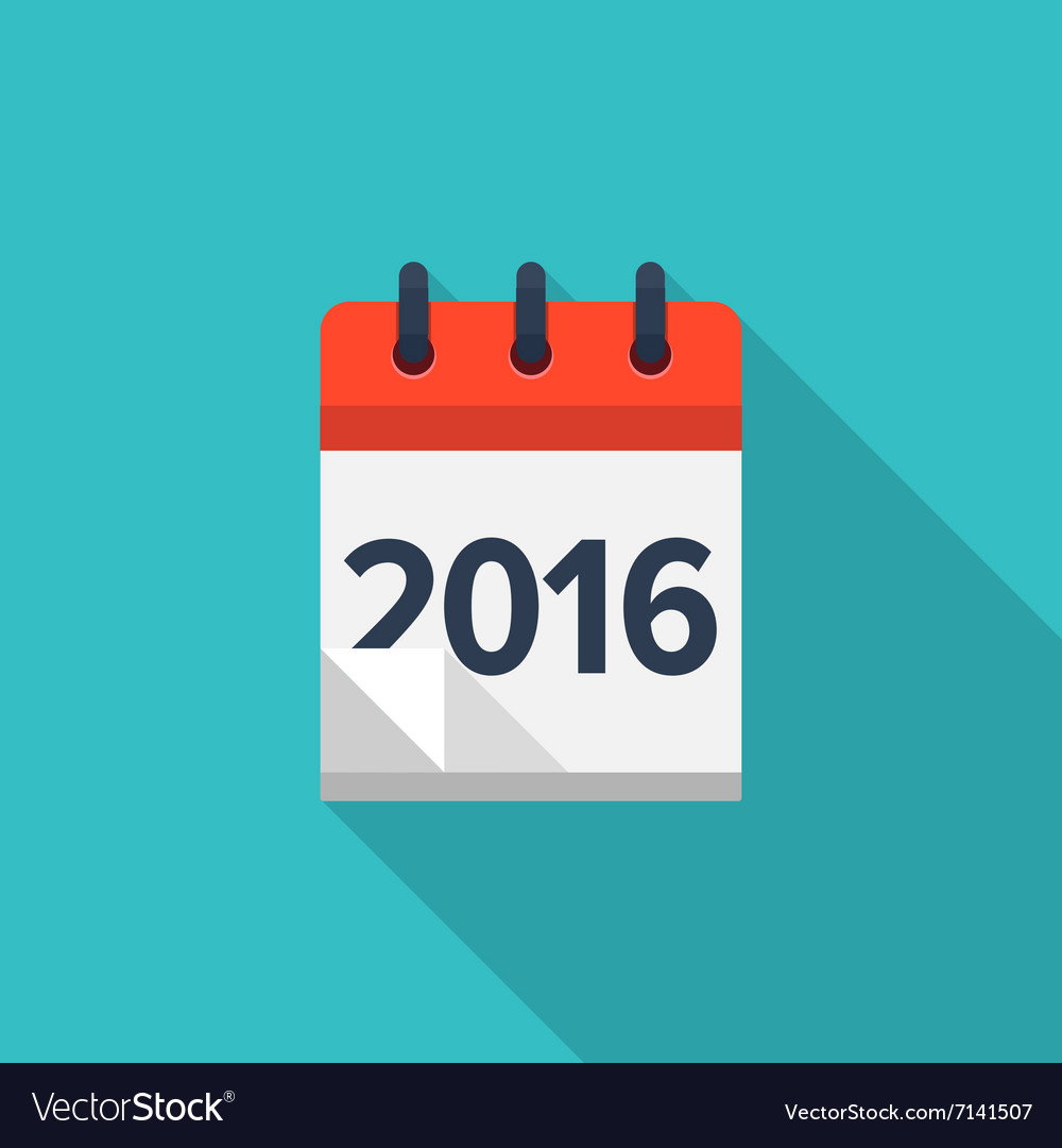 Flat calendar icon date and time background new vector