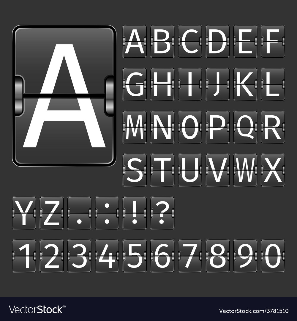 Airport board alphabet vector