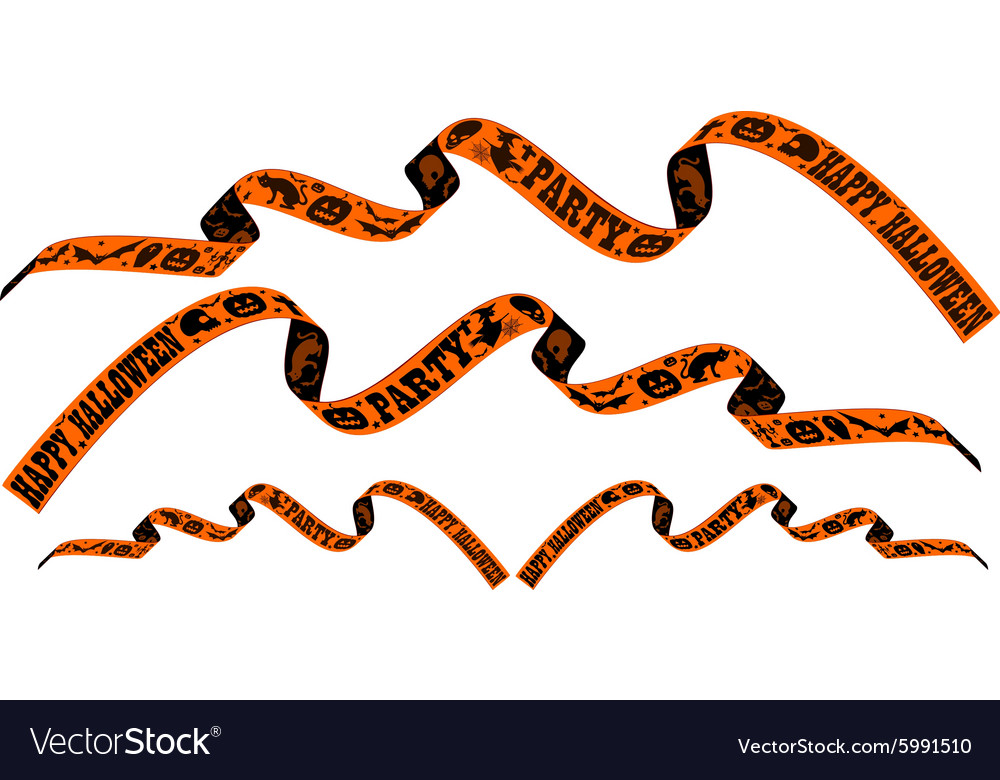 Halloween ribbon vector