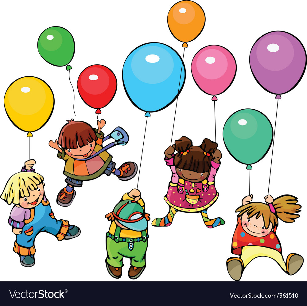 Happy kids vector