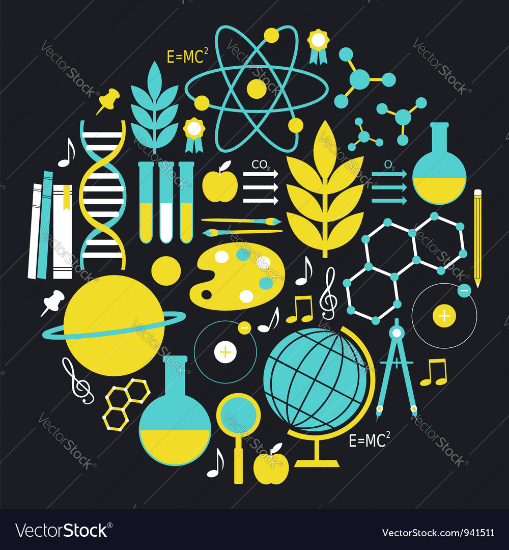 Science icon set vector