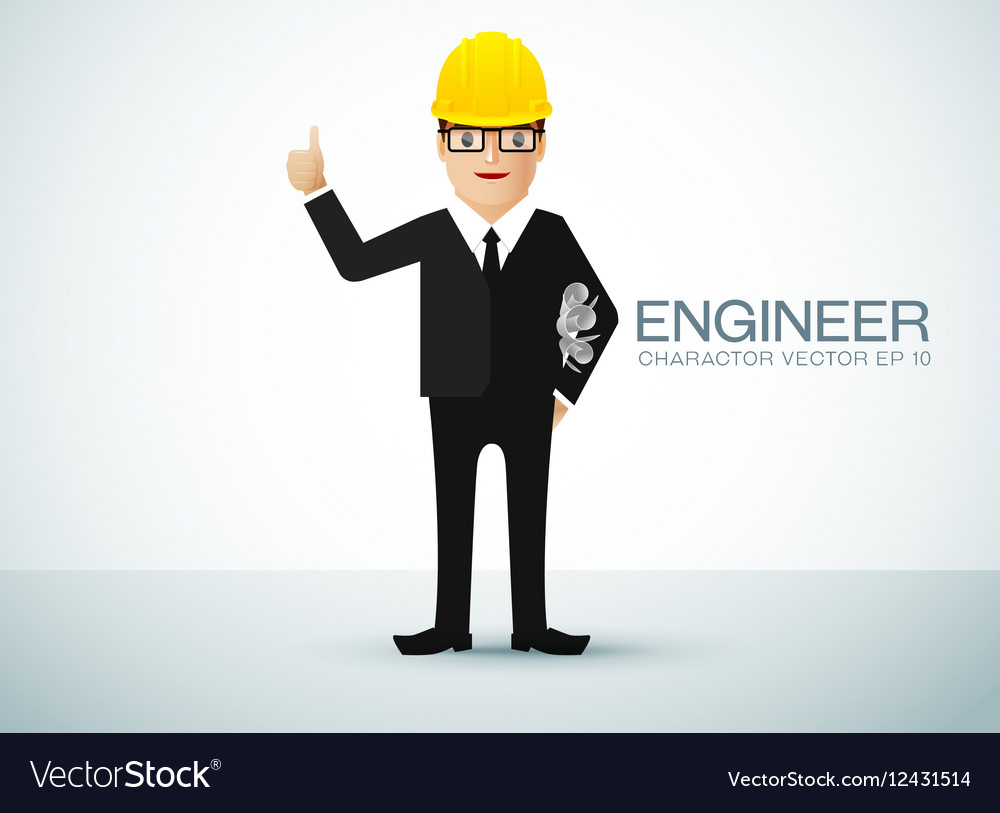 Engineer charactor vector