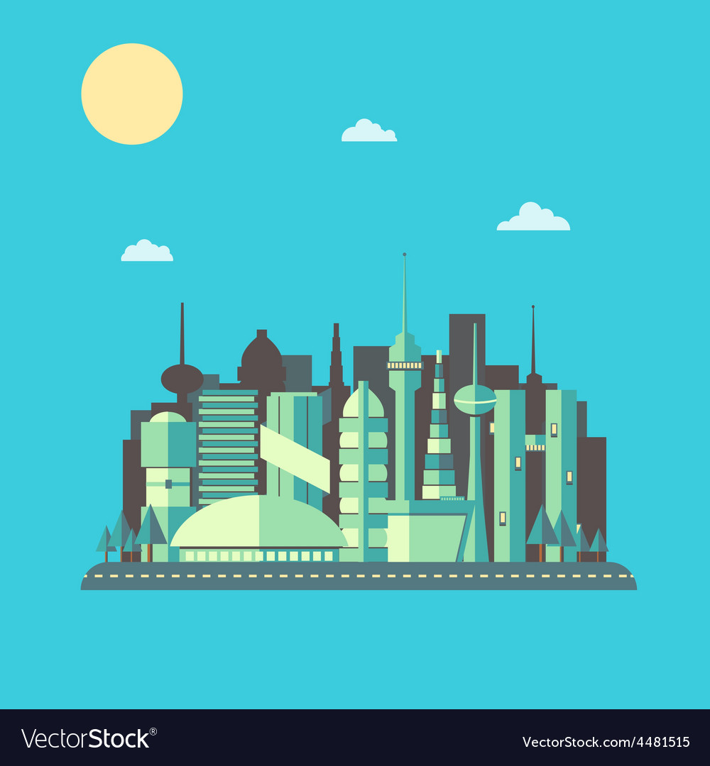Future city 01 vector
