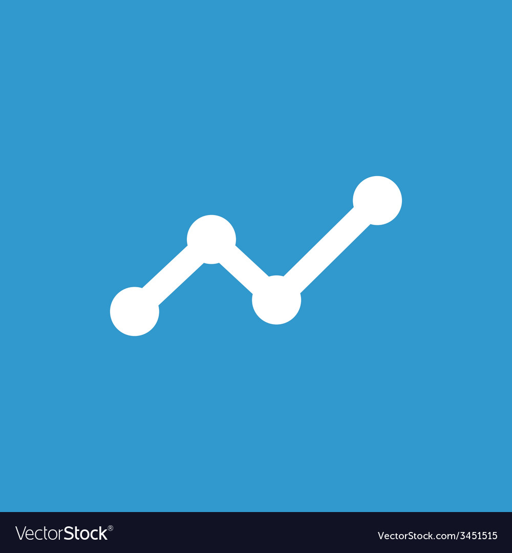 Up diagram icon white on the blue background vector