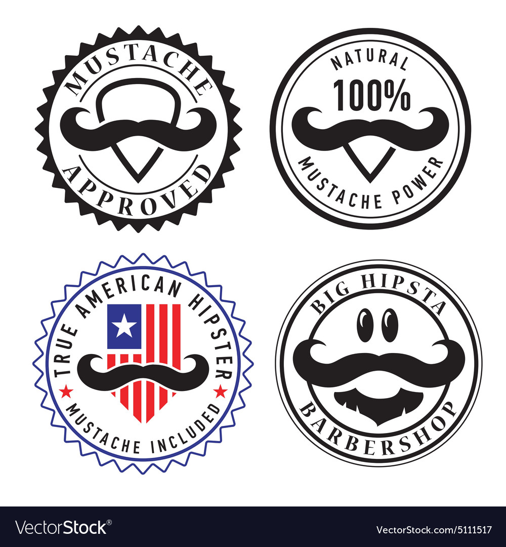 Retro hipster stamps and labels vector