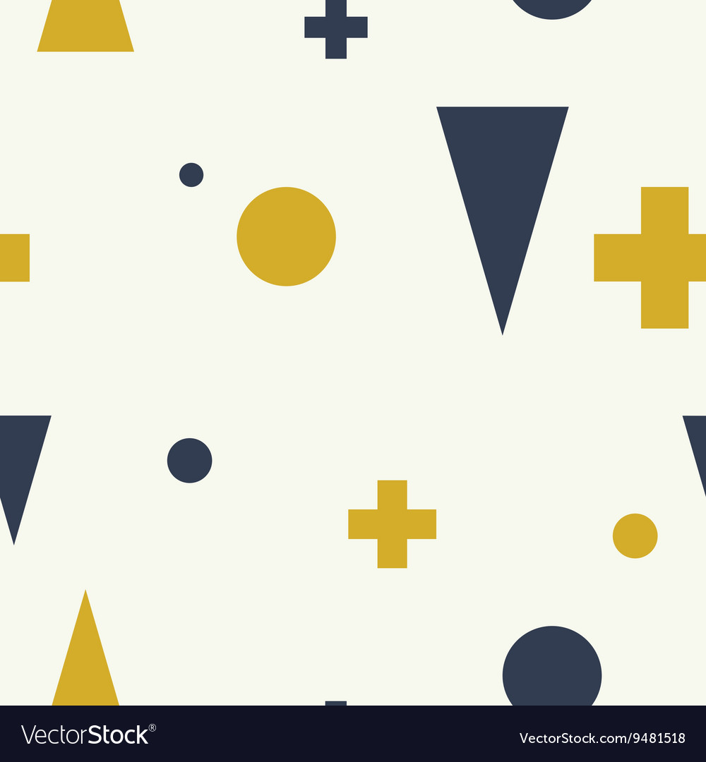 Abstract geometric minimalist seamless pattern vector