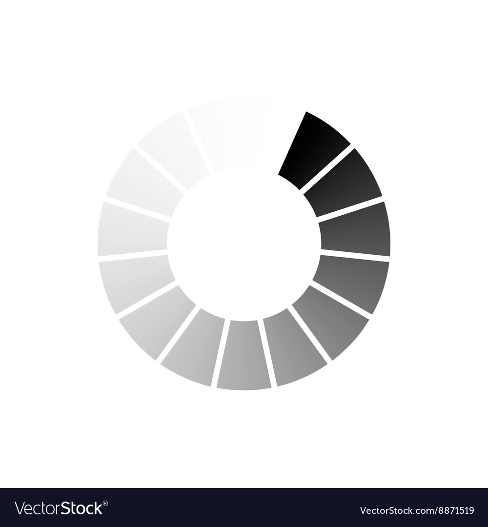 Abstract geometric circle of segments icon vector