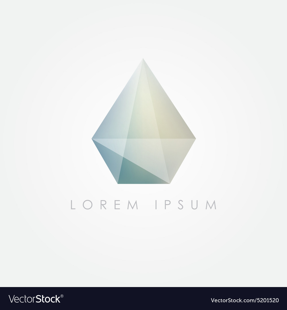 3d low polygon diamond vector