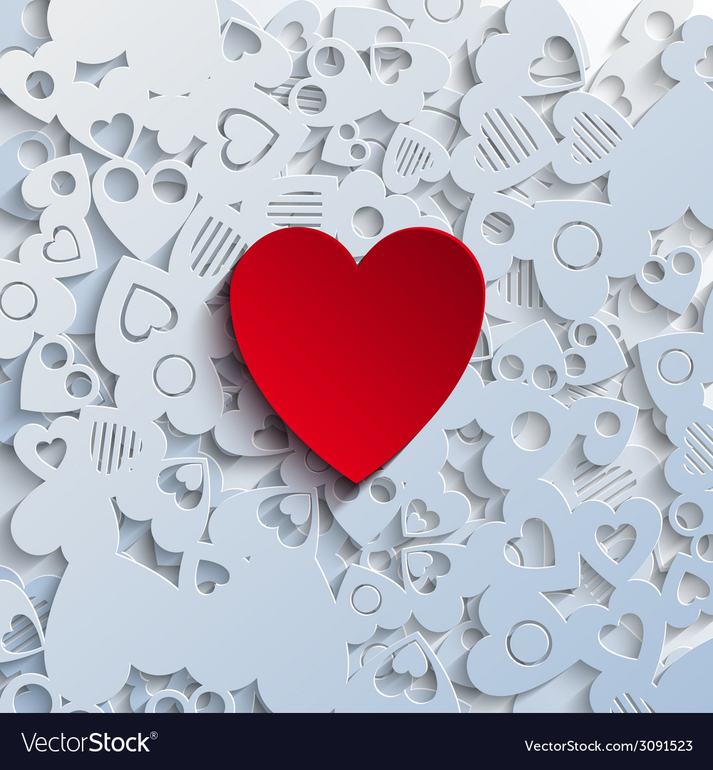 Heartshape background vector