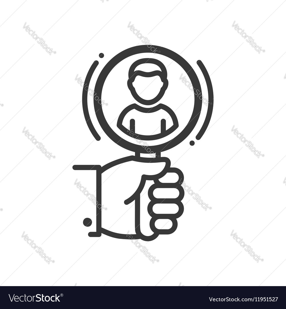 Recruiting  line design single isolated icon vector