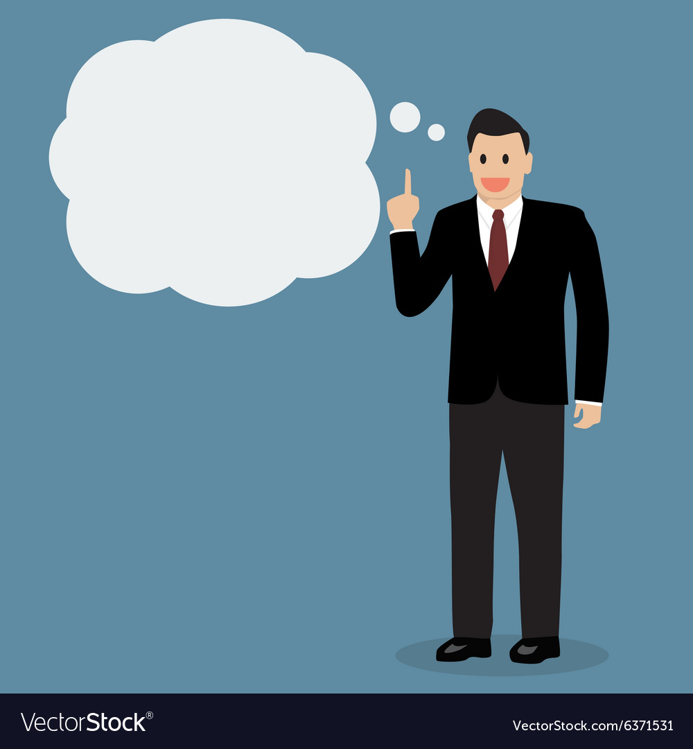 Businessman thinking vector