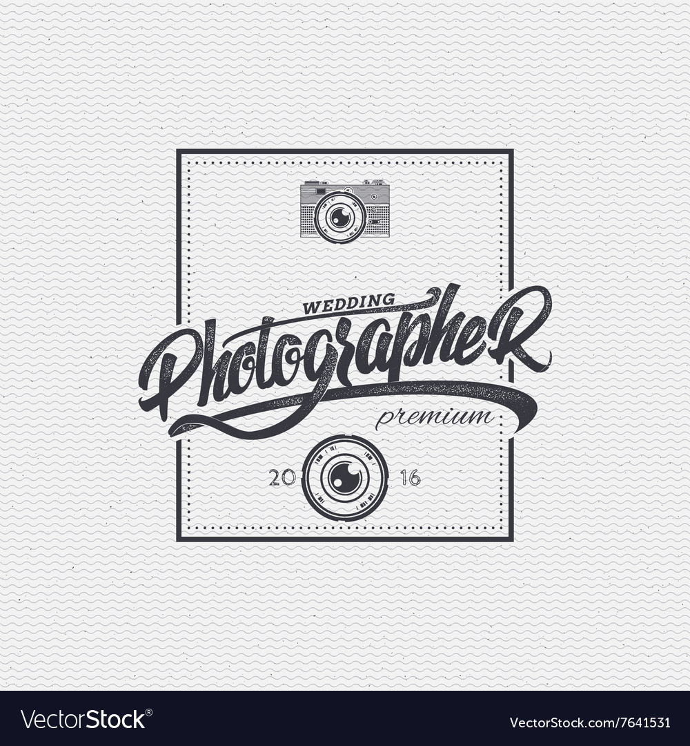 Photographer badge insignia for any use such as vector