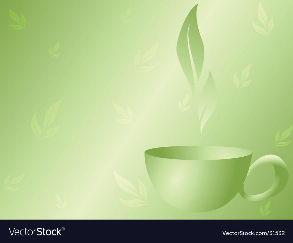 Green tea background vector