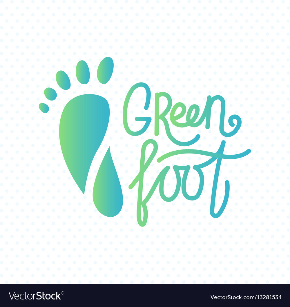 Logo of center of eco foot vector
