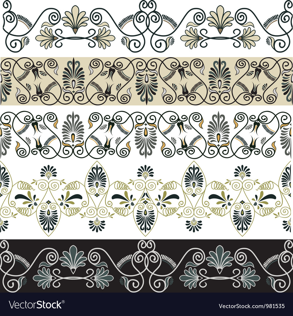 Greec patterns vector