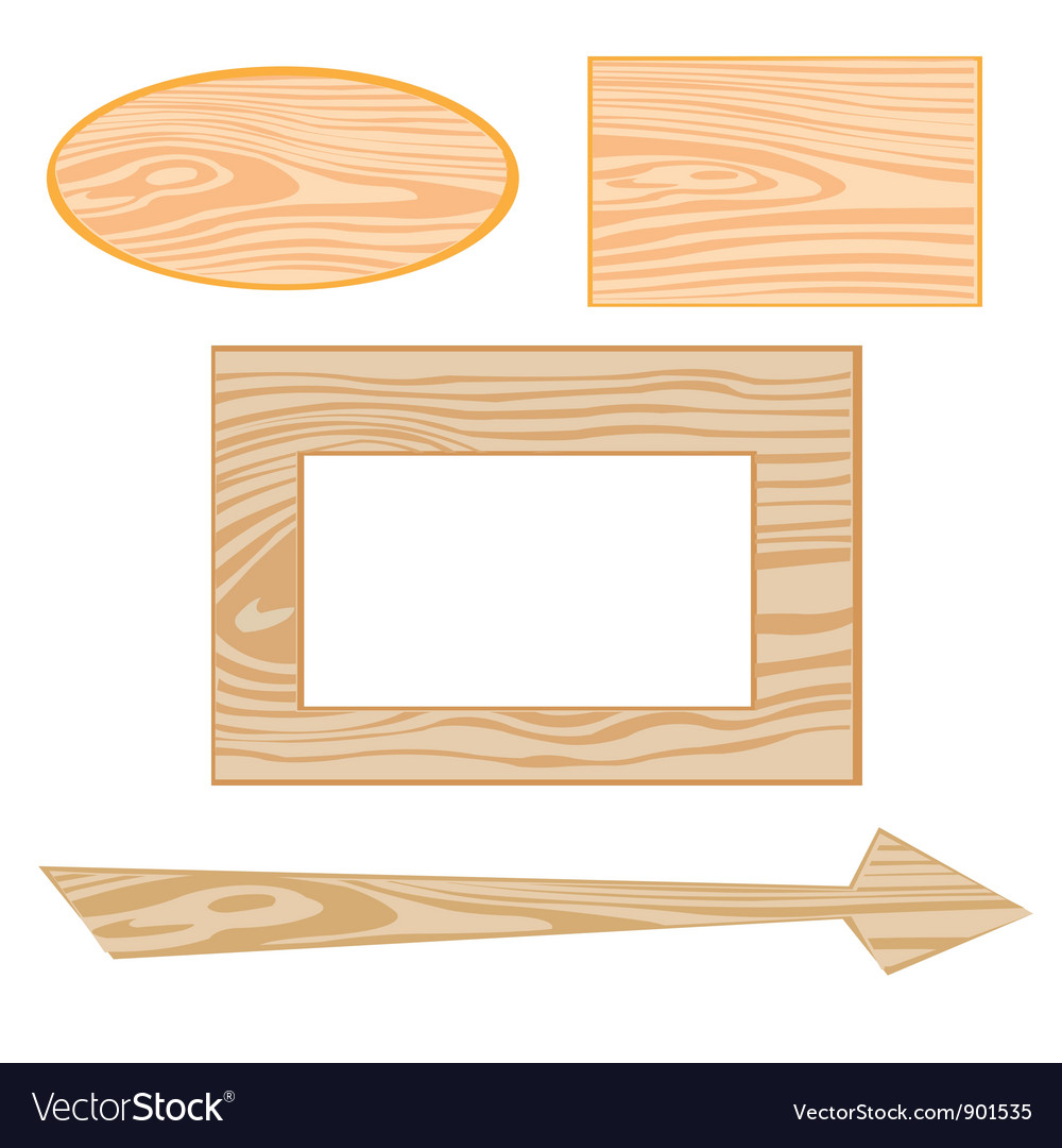 Wooden signboards vector