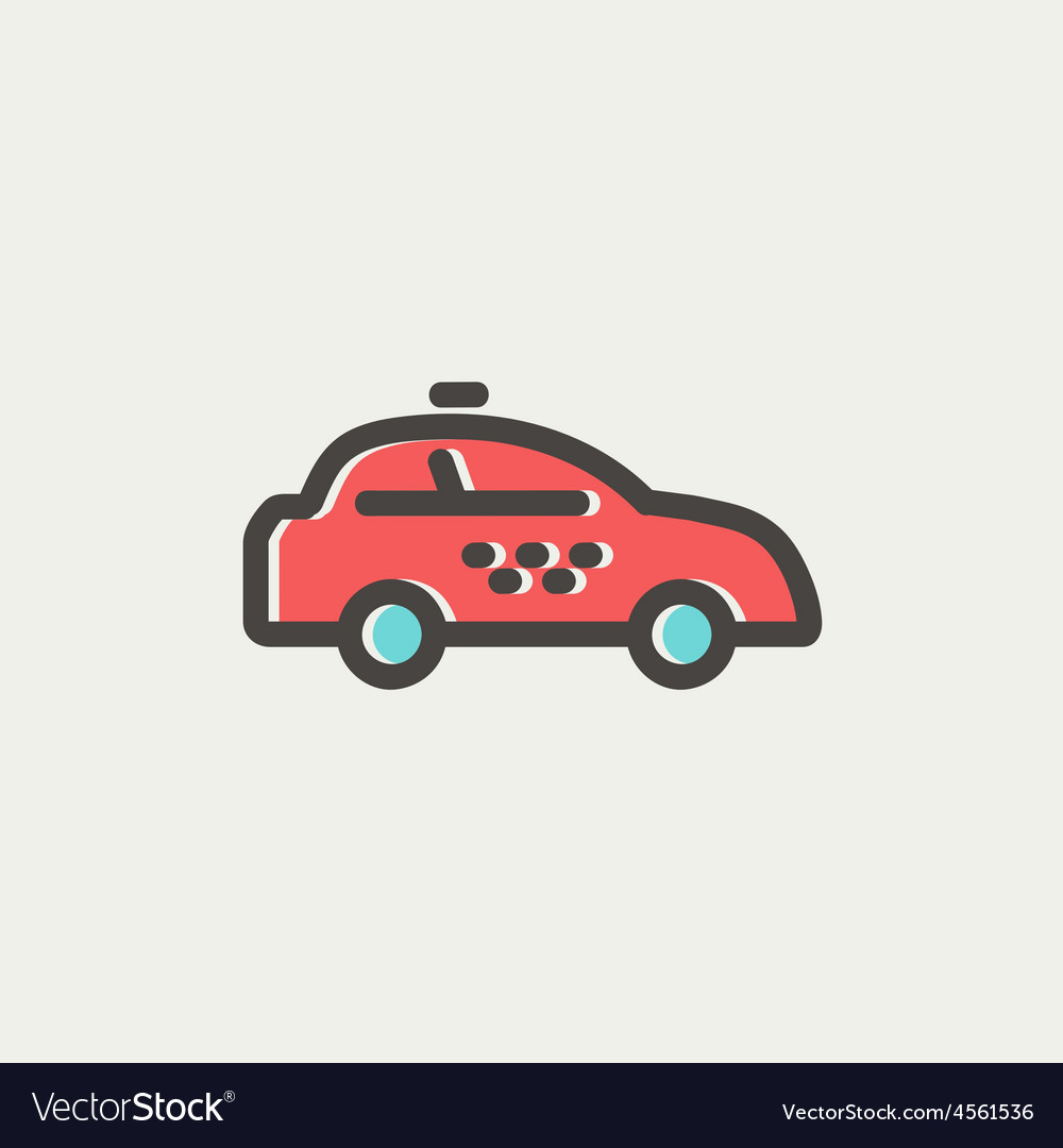 Police car thin line icon vector