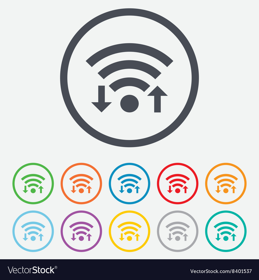 Wifi signal sign wifi upload download symbol vector
