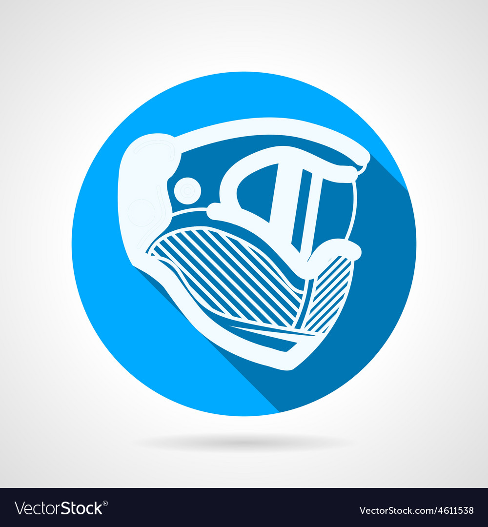 Paintball mask round icon vector