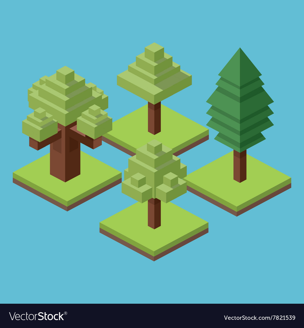 Isometric icon design vector