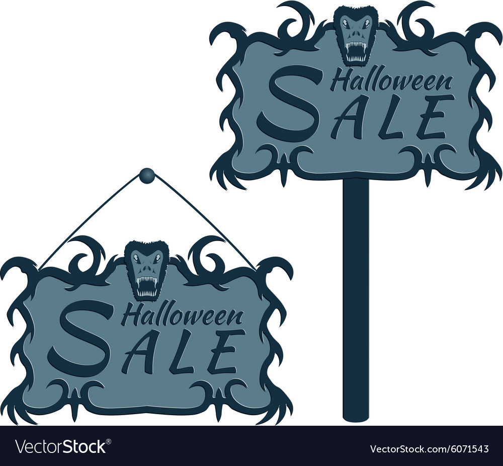 Labels for sales on halloween vector