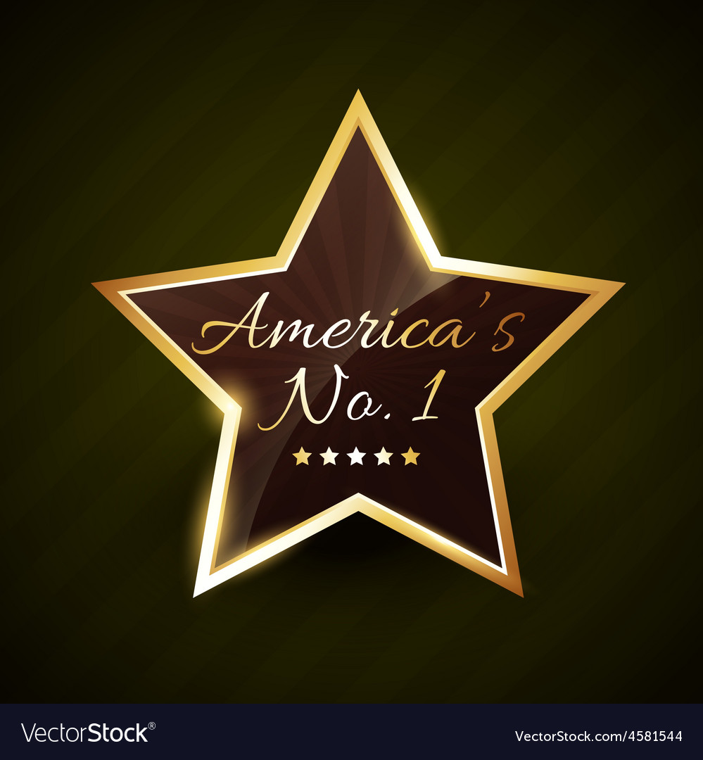 America number one no1 label vector