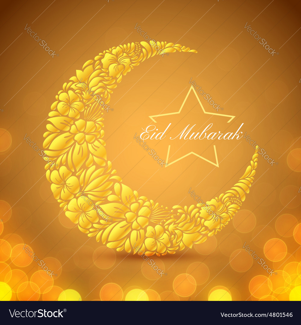 Eid mubarak islamic festive background vector