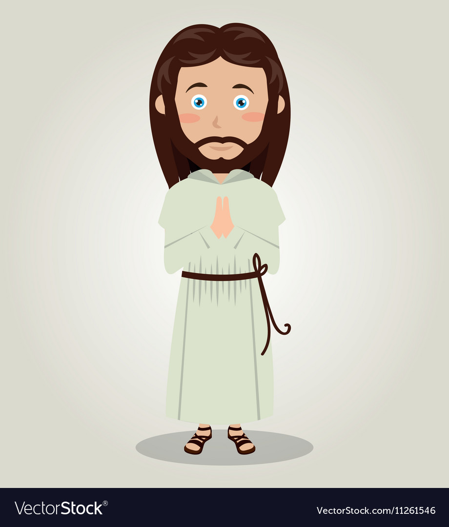 Jesus christ pray design isolated vector
