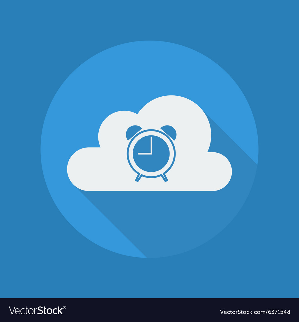 Cloud computing flat icon clock vector
