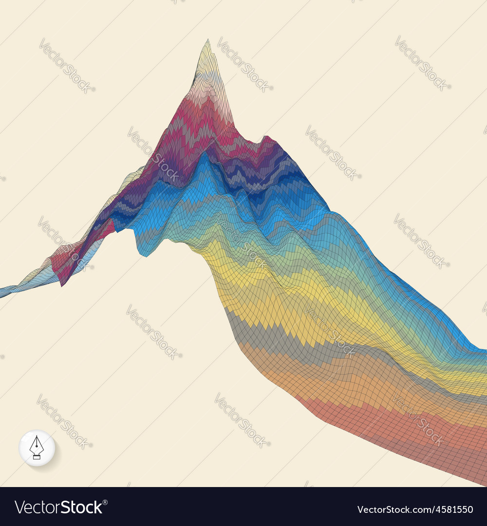 Abstract background with mountain mosaic vector